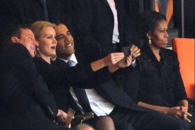 Até o Obama teve seu dia de Joselito ao tirar uma selfie cozamigo no funeral do Mandela...